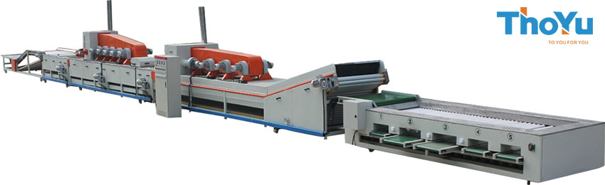 Fruit washing waxing drying sorting line
