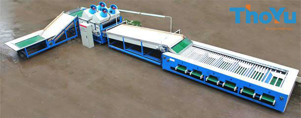 Potato Cleaning Drying Grading Machine