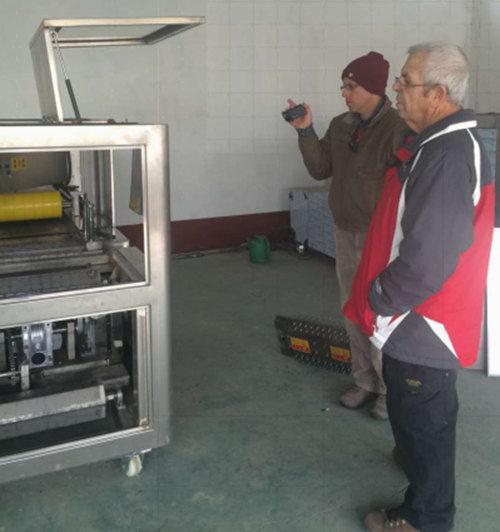Israeli customer visited our factory for dates pitting machine